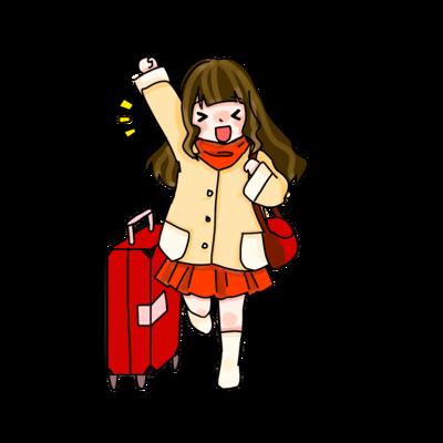 小孩拉行李箱表情包