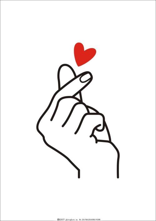 比心手势表情包 可爱