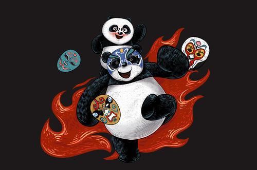 川剧变脸熊猫表情包