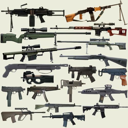 各种枪支名称及图片