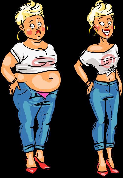 捏肚子赘肉卡通图片